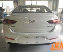 2017 Hyundai Verna spied undisguised for the first time