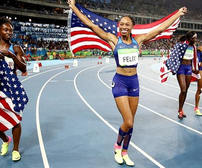 Felix gets record fifth gold as US win relay