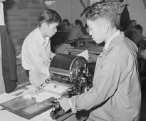 Making copies with a mimeograph