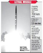 N-Capable Agni-I Test Meets Army Parameters