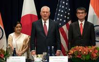 Swaraj holds trilateral talks with US, Japan counterparts