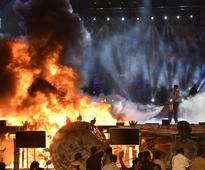In Pics: Blaze at Make in India event in Mumbai