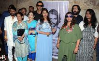 At the teaser launch of Daddy; Arjun Rampal poses with Arun Gawli's family