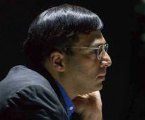 Viswanathan Anand Held by Russian Grandmaster Grigoriy Oparin at Gibraltar Chess
