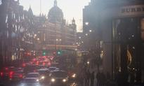 London on pollution 'high alert' due to cold...