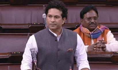 Aila! Oppn ruckus drowns out Sachin's debut speech in Parliament