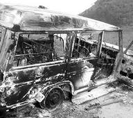 Tribals set 4 houses, vehicles on fire