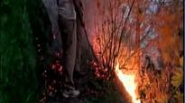 Watch: IAF team sprays water to douse Uttarakhand forest fire