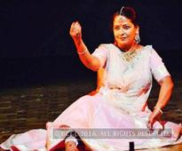 Sharmishtha Mukherjee performs at Banaras Hindu University in Varanasi
