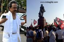 Stalin starts a peaceful fasting protest in Chennai Marina