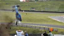 Driver survives crash after incredible flip at Oulton Park
