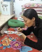 Providing for her family with handicrafts