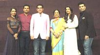 Bollywood actors during the promotion of film Sarbjit on the sets of India's Got Talent Season 7