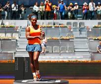 Serena Williams wins the Madrid Open final tennis match