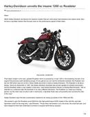 Harley-davidson unveils the insane 1200 cc roadster - Wheelstreet.in