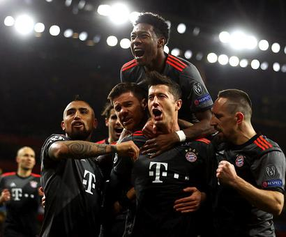 PHOTOS: Bayern humiliate dispirited Arsenal 10-2 on aggregate