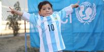 Even after being forced to leave home, Murtaza Ahmadi hasn't lost hope of meeting Messi