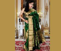 Pure Kanchipuram Handloom Silk Saree in Dark Green