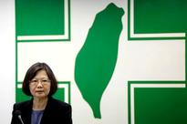 Taiwan says it has no schedule for resuming Ch... Taiwanese President Tsai Ing-wen speaks at a Democratic Progressive Party (D...