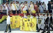 Yang Di-Pertuan Agong attends trooping of the colours ceremony