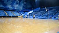Nat Medhurst slots half court shot at Perth Arena