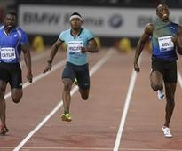Justin Gatlin beats world-record holder Usain Bolt by 0.01 seconds in Rome 100 metres
