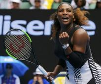 Serena swats doubts, Bencic aside to advance
