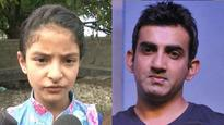 I want to become a doctor: Martyred J&K cop's daughter Zohra thanks Gautam Gambhir