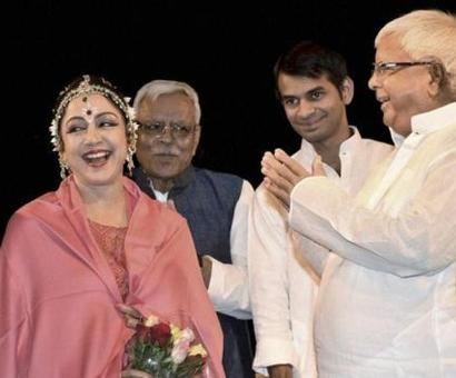 When Dream Girl Hema Malini mersmerised Lalu & Co