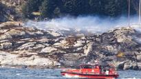 Helicopter crashes off Norway