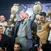 Watch Conor McGregor celebrate in style at New York after party following UFC 205 win over Eddie Alvarez