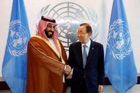 Saudi deputy crown prince meets U.N. chief, says Im not angry