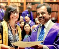 Dr M V Jali conferred with Fellow of the Royal College of Physicians FRCP (London)