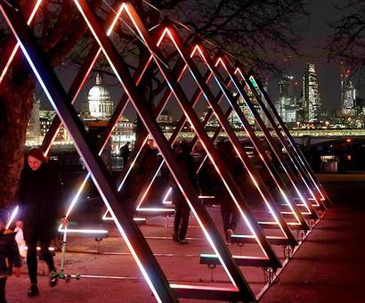 London looks amazing thanks to UK's biggest light festival