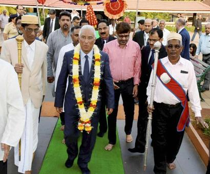 Portugal PM visits ancestral home in Goa, meets kin