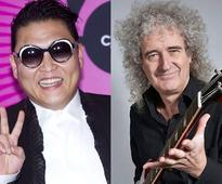 Psy to record track with Brian May