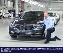 BMW Plant Chennai rolls out 50,000th locally produced car