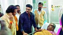 Ram Charan visits ailing fan at hospital