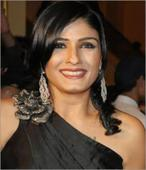 Raveena Tandon with Mohan Babu for Telugu film