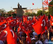 Turkey ruling party joins opposition in massive rally against coup bid