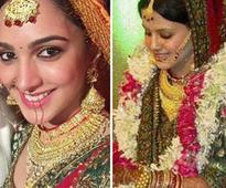 Kiara's lehenga is similar to Sakshi Dhoni's