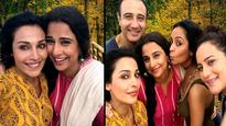 Flora Saini with Vidya Balan on sets of 'Begum Jaan'