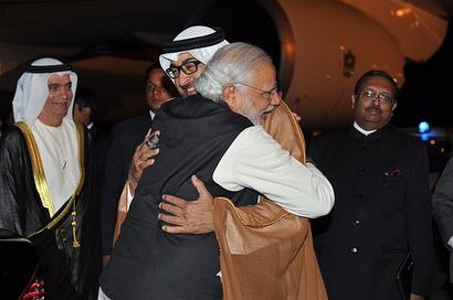 PM receives his 'special friend', Abu Dhabi's Crown Prince, at airport