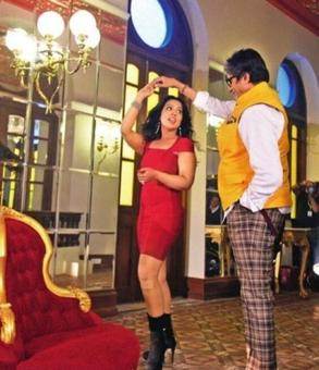 Mrs Fadnavis wows in hot, red dress for music video with Big B