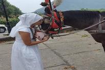 Sofia Hayat plays cricket on the roads of Srinagar