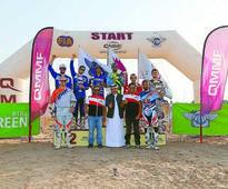 Qatar International Endurocross The podium winners of different event categories with officials of Qatar...