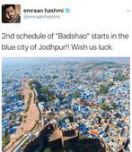 Emraan Hashmi in Jodhpur for 'Baadshaho'