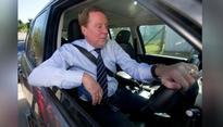 Former Tottenham Hotspurs boss Harry Redknapp accidentally rans over his wife