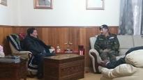 BRO Lt Gen Sharma called on CM at Mintokgang residence