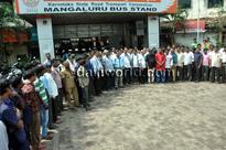 Mangaluru: Conductor Devdas case- KSRTC employees protest demanding justice